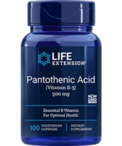 Pantothenic Acid (Vit B-5), 50 0 mg, 100 VeggieC