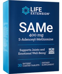 SAMe, 400 mg, 30 enteric-coate d tablets
