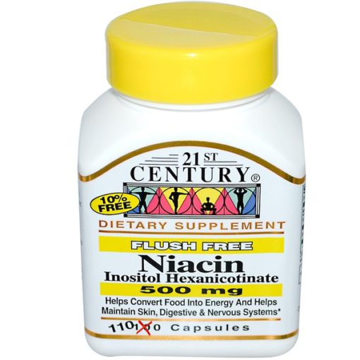 Vitamin B-3 Niacin, Flush Free, 500mg x 110Caps