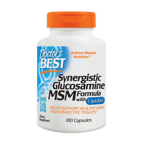 Doctor's Best, Synergistic Glucosamine MSM Formula with OptiMSM, 180 Capsules