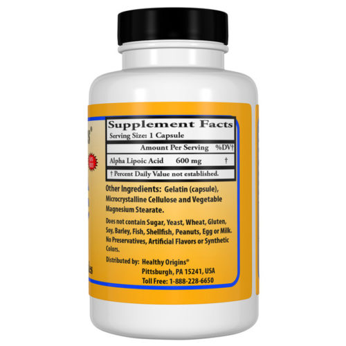 Alpha Lipoic Acid, 600mg x  60Caps, High Potency.