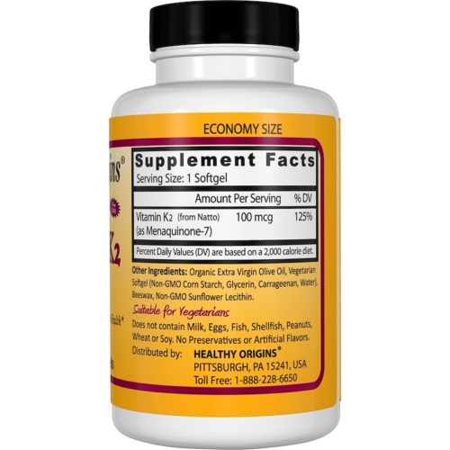 Vitamin K-2 as MK-7, 100mcg x 180VSoftGels