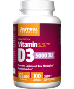 Vitamin D-3, 5000iu x 100SoftGels