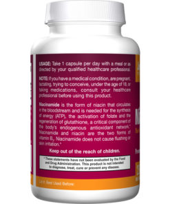 Vitamin B-3 Niacinamide, Flush Free, 250mg x 100Caps