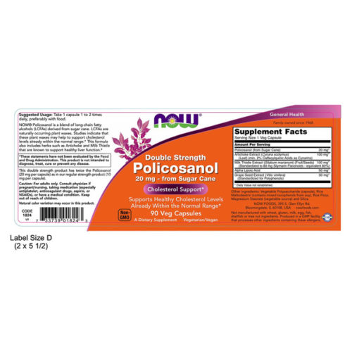 POLICOSANOL, 90VCaps, Double Strength