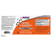 L-Carnitine (Acetyl), Pure Powder, 3oz (85g)