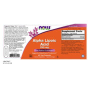 Alpha Lipoic Acid,  250mg x 60VCaps