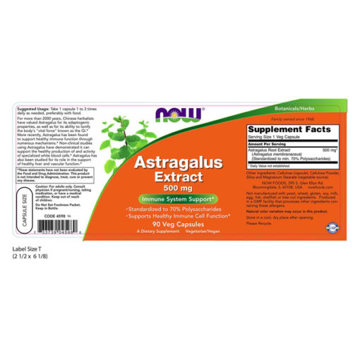 Astragalus Extract, 500mg x 90VCaps