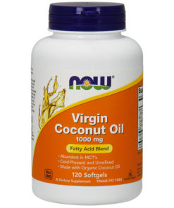 Coconut Oil, Virgin, 1000mg x 120Sgels