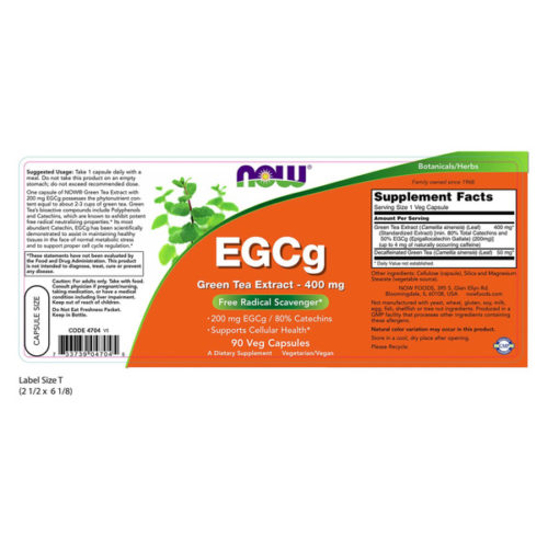 Green Tea Extract, EGCg, 400mg x 90VCaps