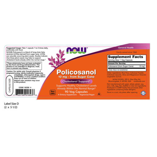 Policosanol, 10mg x 90VCaps