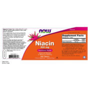 Vitamin B-3 Niacin, 500mg x250tabs, Sustained Release