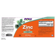 Zinc Gluconate, 50mg x 250 Veggie Tablets