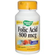 Folic Acid, 800mcg x 100Caps