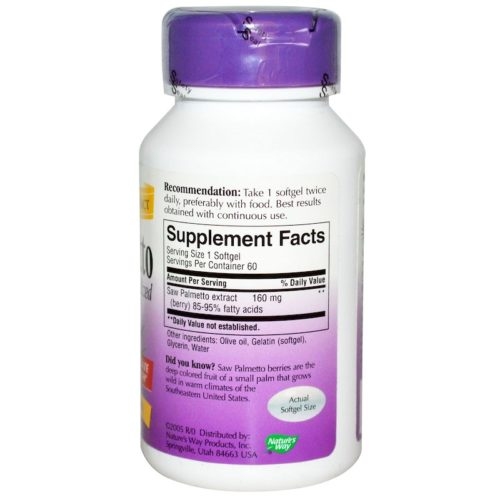 Saw Palmetto, Standardized, 60SoftGels