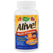Nature's Way, Alive! Children's Chewable Multi-Vitamin, Orange + Berry Fruit Flavors, 120 Chewable Tablets